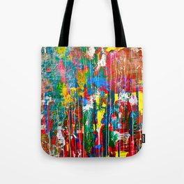Abstract Paint Drips Tote Bag