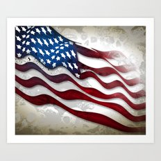Old Glory...long may she wave Art Print