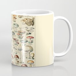 Trippy Vintage Mushroom Chart // Champignons by Adolphe Millot 19th Century Science Artwork Coffee Mug