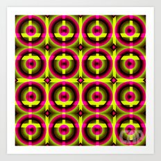 Spinster #12 Colorful Optical Illusion Art Print