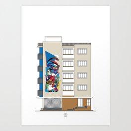 Edificio Dédalo Art Print