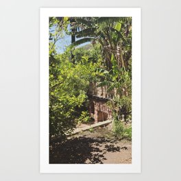 Historic Ruins in the Sun-Drenched Mountains of Malibu Art Print