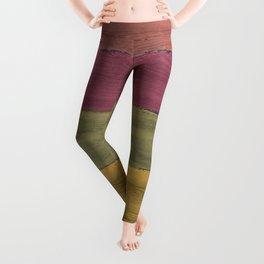 Colorful Wood Grain Leggings