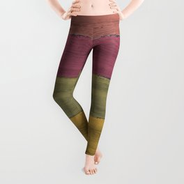 Colorful Wood Grain Leggings