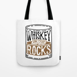 Whiskey On The Rocks Tote Bag