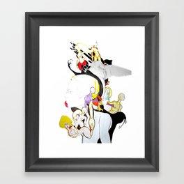 AROUND MY MIND Framed Art Print