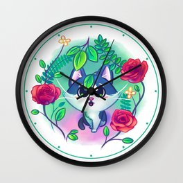 Kitten Garden Wall Clock