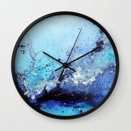 Bermuda Paradise Mixed Media Painting Wall Clock