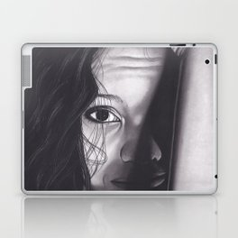 Realism Charcoal Drawing of Woman from Honduras Laptop & iPad Skin