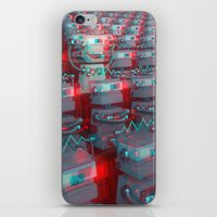 cinema iPhone & iPod Skins featuring Robot Cinema by Chayground