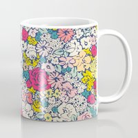 vintage flowers Mugs featuring Vintage flowers by Love2Snap
