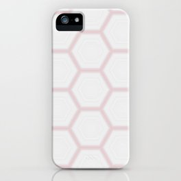 Pink White Marble Geometric Pattern iPhone Case