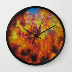 On fire Wall Clock