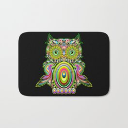 Owl Psychedelic Art Design Bath Mat