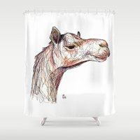 camel Shower Curtains featuring Camel by Ursula Rodgers