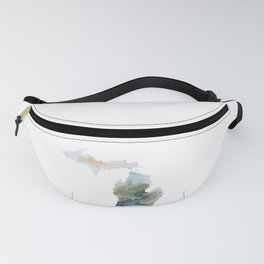 Michigan Watercolor Fanny Pack