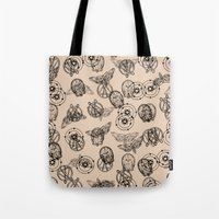 suits Tote Bags featuring Suits by nijikon