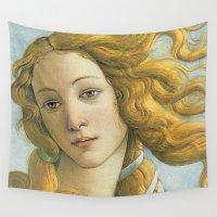 venus Wall Tapestries featuring Venus by NELOS Cisneros