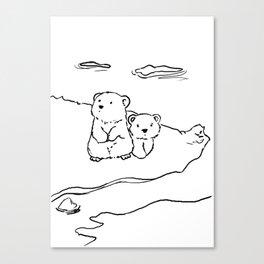Lost polar bear cubs Canvas Print