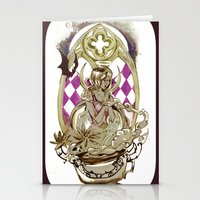 tarot Stationery Cards featuring Moon Tarot by A Hymn To Humanity