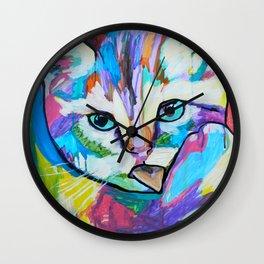 El gato arcoiris Wall Clock