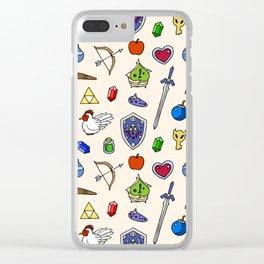 Zelda pattern Clear iPhone Case