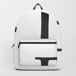 Letter D Initial Monogram Black and White Backpack