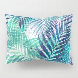 Palm Leaves - Indigo Green Pillow Sham