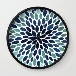Festive Floral Bloom Wall Clock
