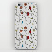 spice iPhone & iPod Skins featuring Floral Spice by Itaya Art