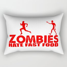 zombies hate fast food Rectangular Pillow