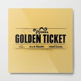 Golden Ticket Metal Print