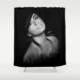 Ally Brooke Hernandez 'Reflection' Digital Painting Shower Curtain