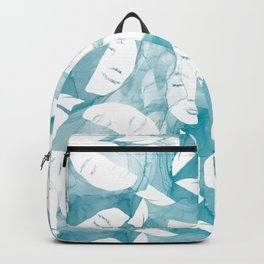 Female Face on Watercolor Minimalistic Clean Design Backpack
