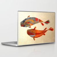clockwork orange Laptop & iPad Skins featuring Kolors Koi by Fernando Vieira