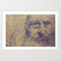 da vinci Art Prints featuring Da Vinci by LK Winwright
