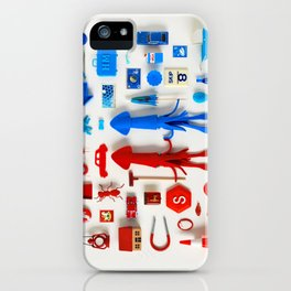Red Squid, Blue Squid iPhone Case