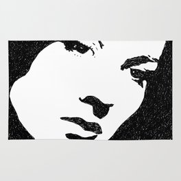 Vivien Leigh Face Rug