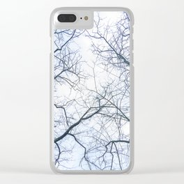 Abstract tree trunks Clear iPhone Case