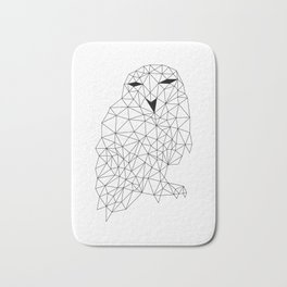 Geometric Owl Bath Mat