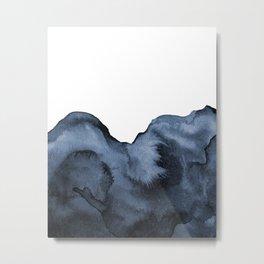 Watercolor Splash in Blue Metal Print