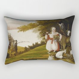 A Peaceable Kingdom with Quakers Bearing Banners - © Doc Braham; All Rights Reserved. Rectangular Pillow