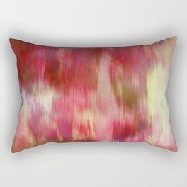 Red Fusion Illustration, Digital Watercolor Camo Blend - Fluid Art Rectangular Pillow