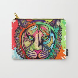 Rainbow Tiger Carry-All Pouch