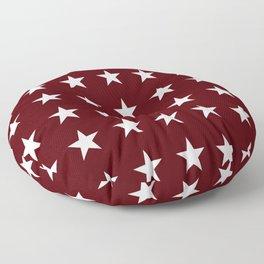 Stars on Maroon Floor Pillow