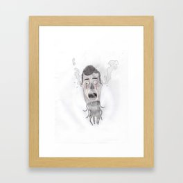Android head Framed Art Print
