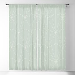 Gisela Geometric Line Pattern - Sage Blackout Curtain