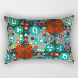 Сryptocurrencies funny pattern Rectangular Pillow