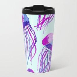 Jellyfish Bloom - light blue Travel Mug
