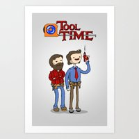 tool Art Prints featuring tool time. by dann matthews